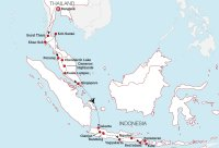 Bangkok to Bali Map