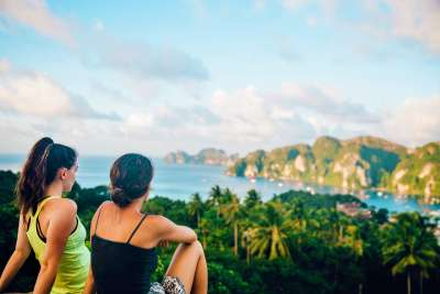 Trek to the viewpoint on Phi Phi for amazing island views
