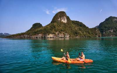 Kayak through the world famous Halong Bay!